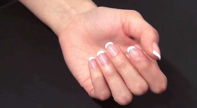 Artistic colour gloss french manicure colours