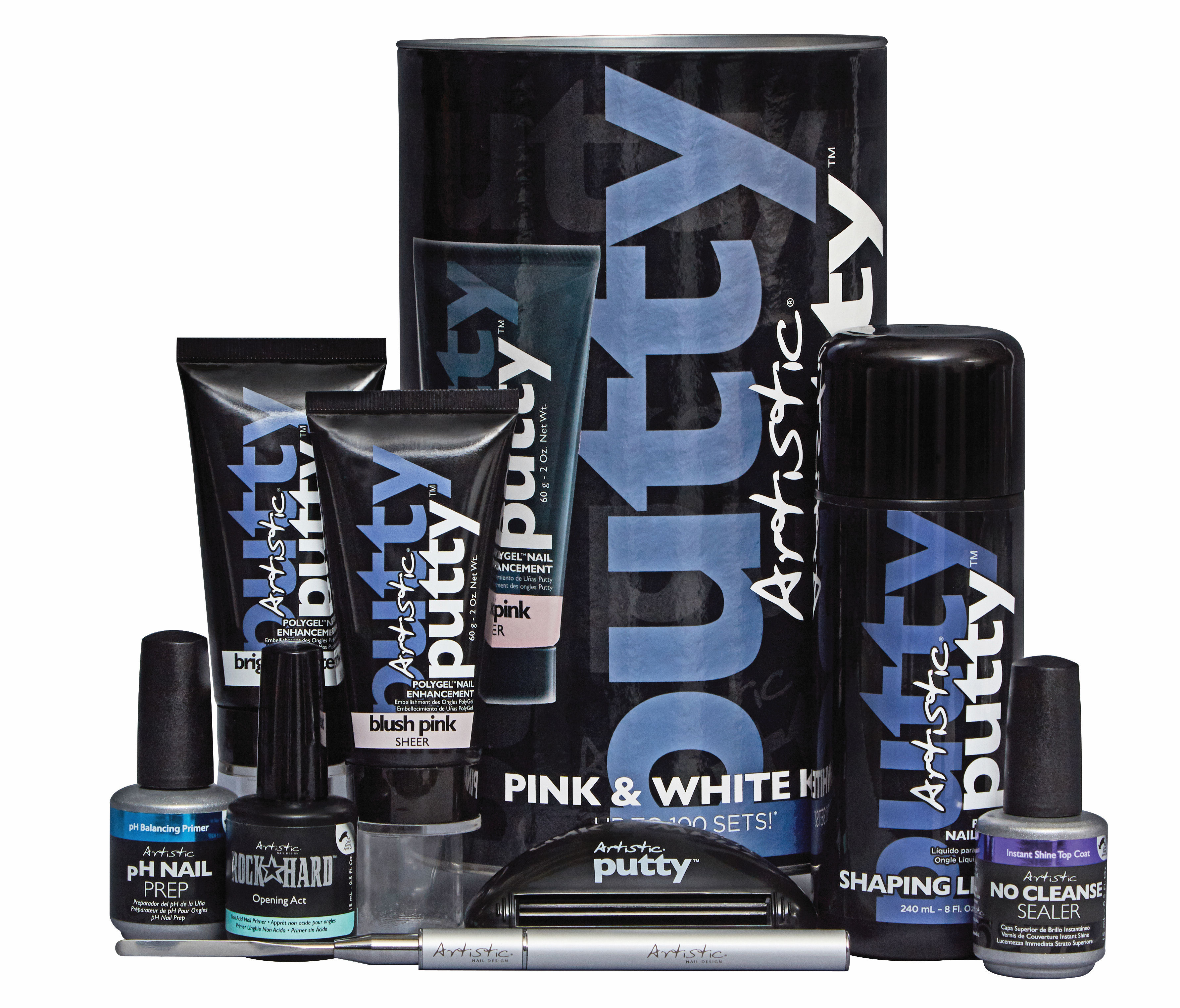 Artistic Nail Design – Artistic Putty – Pink & White Kit | National ...